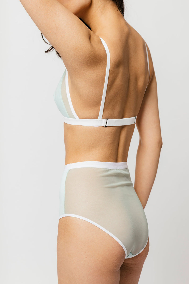 Lux High Waist Brief in Mint