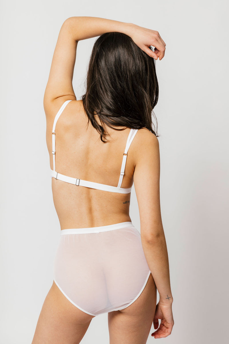 Lux High Waist Brief in White