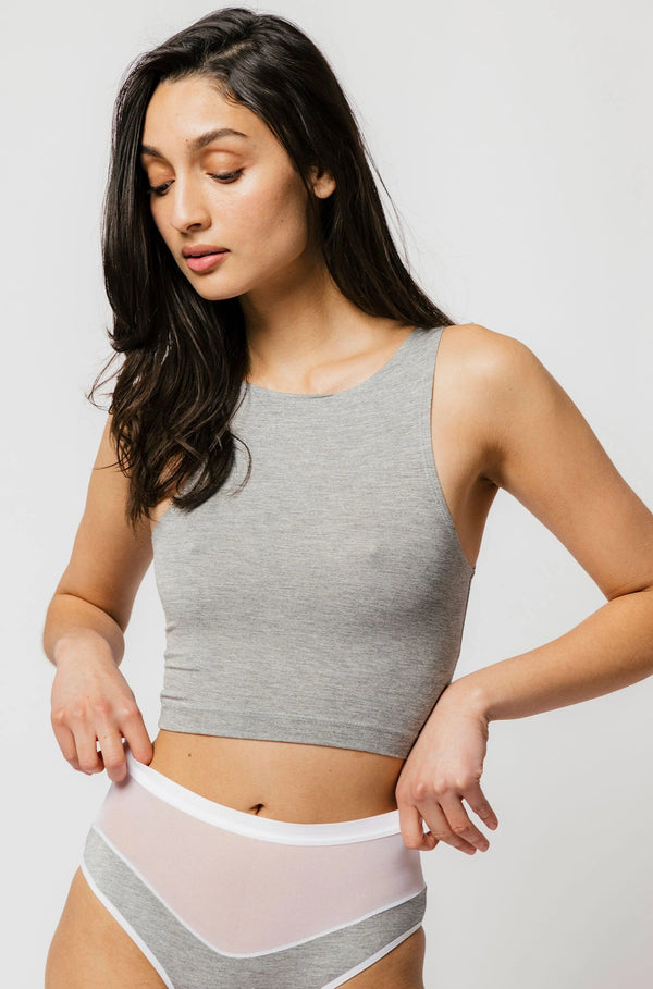 Wallace Crop in Grey