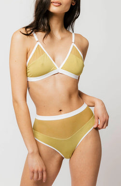 Logan High Cut Bikini in Matcha