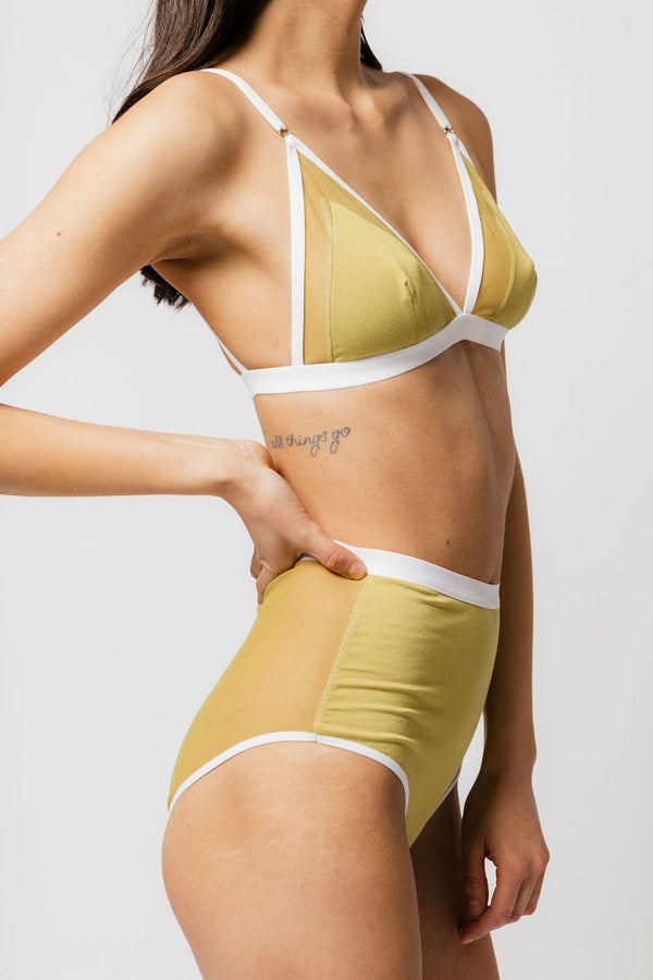 Lux High Waist Brief in Matcha