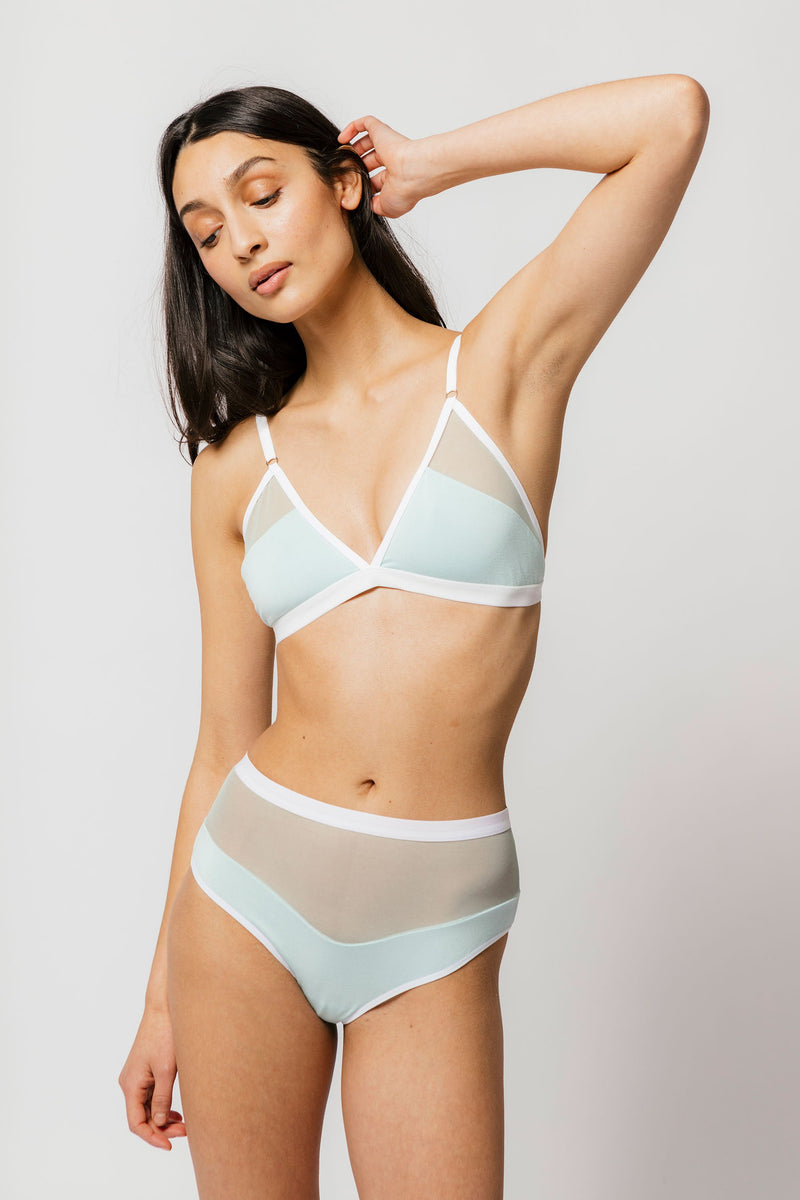 Logan High Cut Bikini in Mint