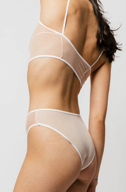 Kendi Brief in Two-Tone Milkshake