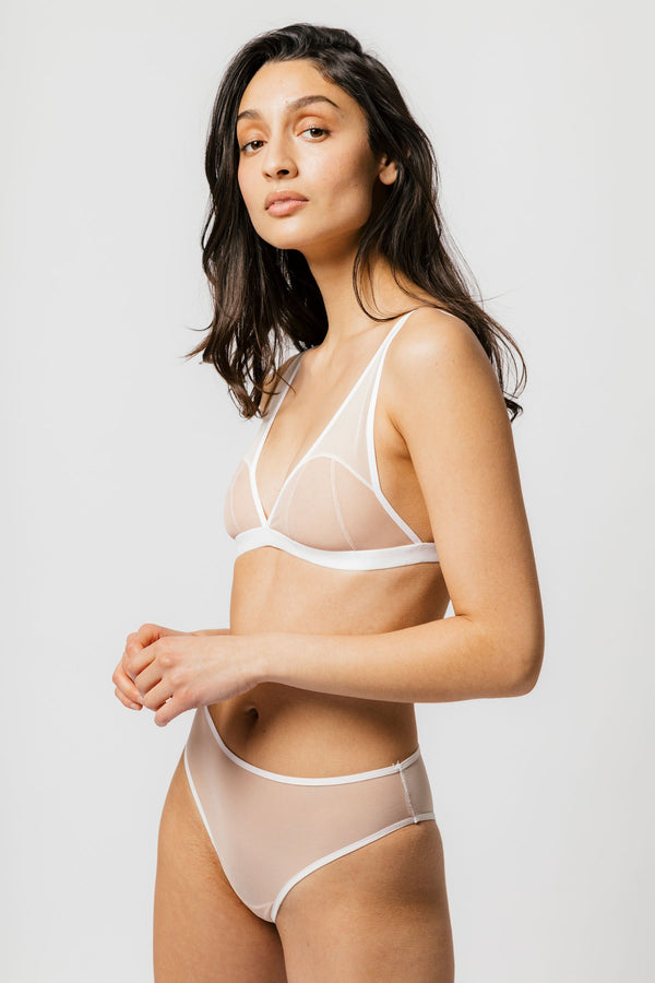 Beckett Bra in Two-Tone Milkshake