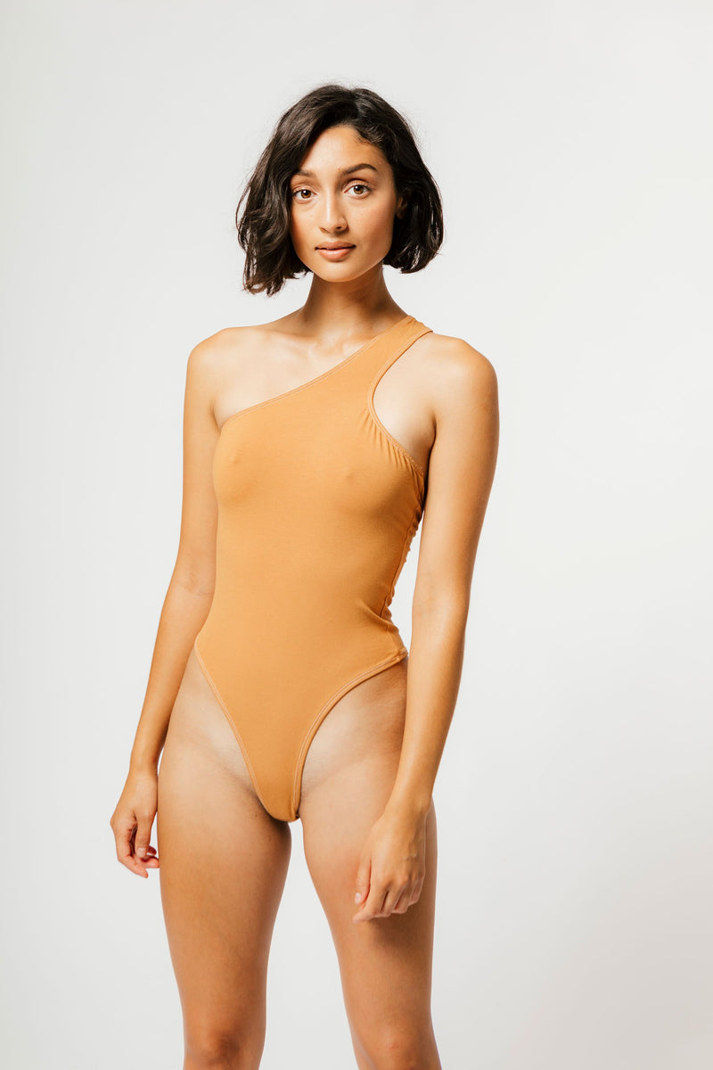 Del Bodysuit in Caramel