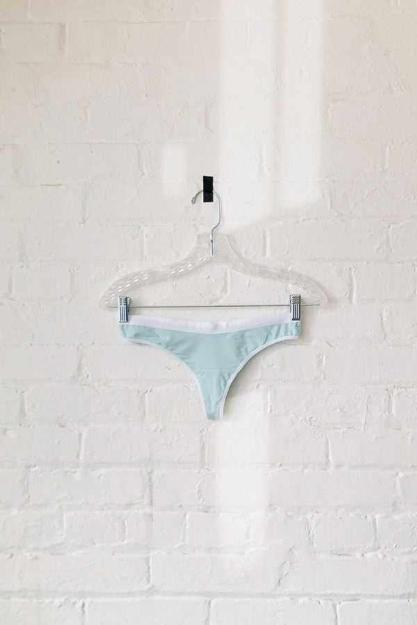 Emery Thong in Solid Mint