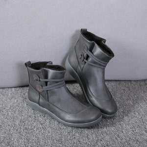 Polly Leather Vintage Boots