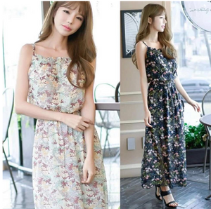 Taeyeon Floral Korean Dress