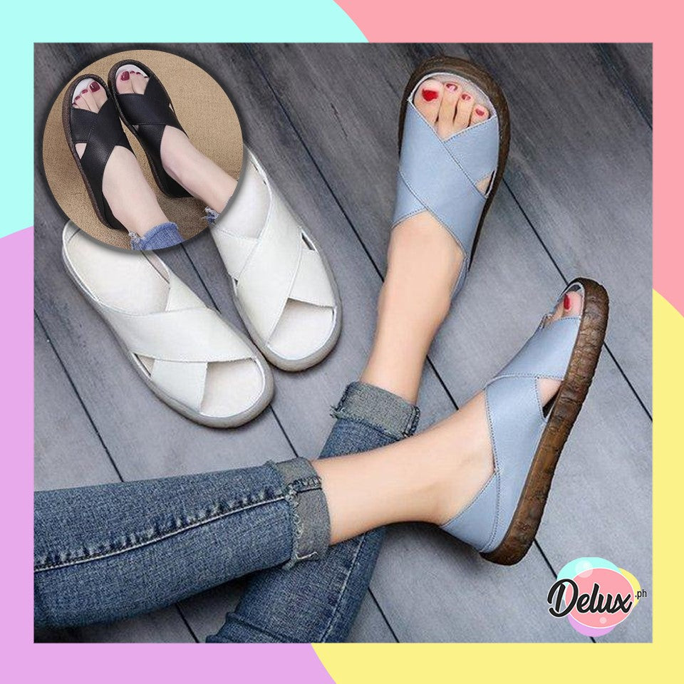 Bella Faux Leather Sandals