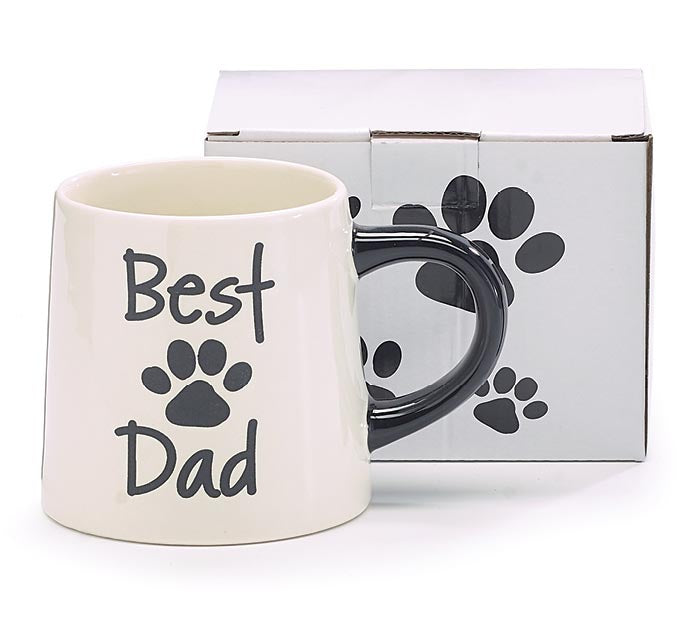 Best Dad Paw Print Mug