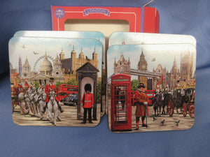 London Collage Coasters