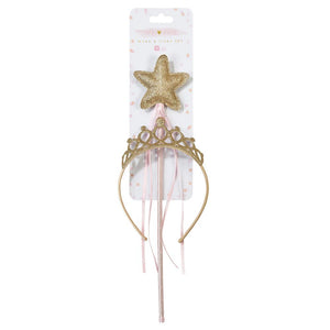 We Heart Pink Gold Wand & Tiara Set