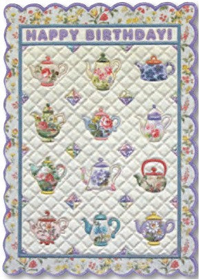 Quilted Teapots Card