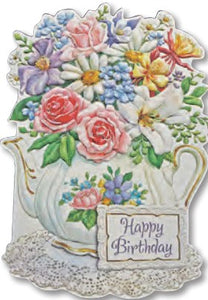 Teapot Happy Birthday Card