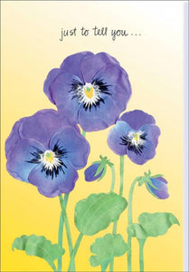Friendship Card Pansy