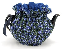 Blueberry Blue Wrap Around Tea Cozy