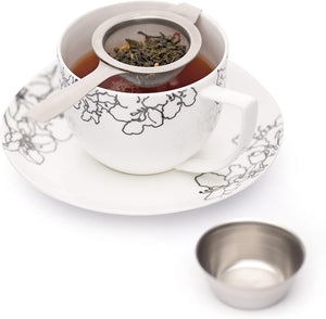 Long handle tea strainer with bowl