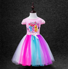 2-8 Yrs Big Kids Baby Girls Dress Little Pony Summer Girl Rainbow Dresses girls princess For Children Costume Vestidos