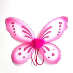 Kids Girls Colorful Butterfly Wing Halloween Fancy Dress Angel Fairy Costume
