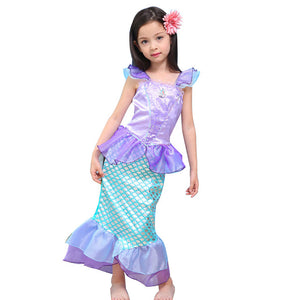 6d62912b 2017 New Baby Girls Dress Summer Short Sleeve Children Clothes Cartoon  Mermaid Princess Dresses For Girls
