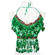 Sexy Indian Dance Handmade Belly Dance Bra tops Crystal Sequins Beads Costumes