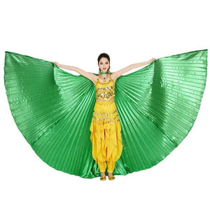 High Quality Dancing Dress 2017 Egypt Belly Wings Dancing Costume Belly Dance accessories No Sticks