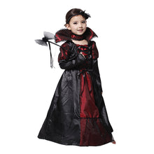 Halloween Dress Black Lace Queen Vampire Costume Kids Carnival Masquerade Party Fancy Costumes Girls's Dress