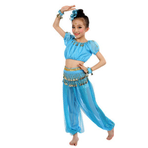 Handmade Children Girl Dance Costumes Kids Belly Dancing Egypt Dance Cloth Girl India suit