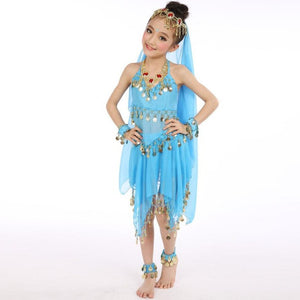 Popular Handmade Kids Girls Belly Dance Costumes Kids Belly India Dance Children's clothes set Drop ship