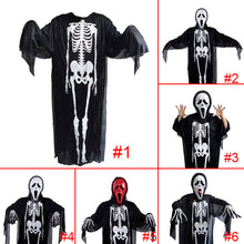 New Cosplay Men Women Adult Halloween Scary Costume Masquerade Prop Skull Skeleton Ghost Clothes Devil Mask Gloves Horror Toy