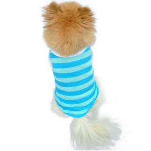 New Cute Dog Puppy  Clothes Lapel Stripe Cotton Pet costumes for dogs  products for animals   small dog costume