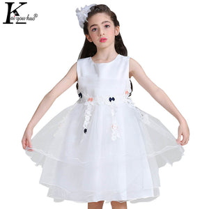 New Girls Dress Solid Toddler Party Wedding Dress Children Princess Dresses For Girls Clothes Halloween Dress Costume For Kids