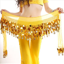 Women New Belly Dance Costume Hip Scarf Wrap Sequins Belt 58 Coins Chiffon Skirt Hot Selling
