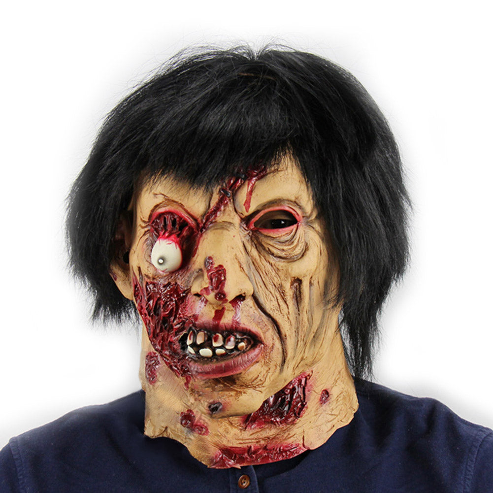 Halloween Party Scary Mask Latex Festival Zombie Full Head Face Props Masks Costume Theater Novel Toy BM88
