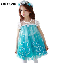 Lace High Quality Girl Dresses Princess Children Clothing Anna Elsa Cosplay Costume Kid's Party Dress Baby Girls Clothes