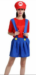 Adults and Kids Super Mario Bros Cosplay Costume Set Children Halloween Party MARIO & LUIGI Costume For Kids Gifts