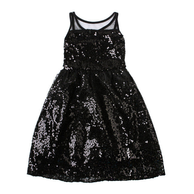 Kids Girl Summer Party Princess Dress Toddler Baby Girl Summer Sequin Vest Girl Dress Baby Princess Dress Kids Costume