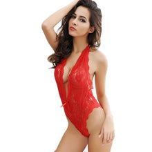 Female Temptation Transparent Lace Nightgown Underwear Red