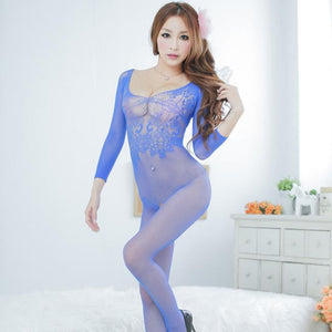 Women sexy  transparent lace open file underwear