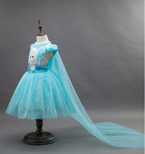 New High quality Kids princess Elsa Anna dress for baby girls snow White Cosplay Costume children christmas party tutu dresses