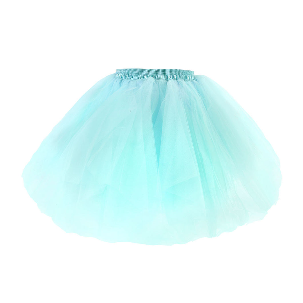 Women Tulle Layered Tutu Skirt Dress for Showing Stage Costume Parties