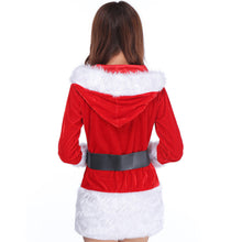 Ladies Santa Costume Women Christmas Party Fancy Two Parts Dress Cosplay Suit