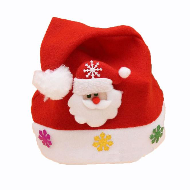 Merry Christmas Party Santa Claus Hats Xmas Cap Shinning Paillette