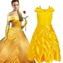 2017 Kids Girl Beauty and beast cosplay carnival costume kids belle princess dress for Christmas Halloween Dress For Girls