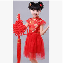 Fashion NEW Chinese style traditional cheongsam costume dress girls tang suit qipao dress girls princess party performance dress