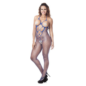 Sexy Women Fishnet Sheer Open Crotch Body Stocking Bodysuit Lingerie