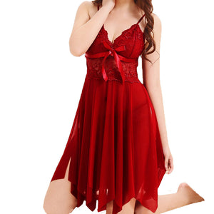 Fashion Women Cute Sexy Bow Uniforms Temptation  Sexy Underwer Nightdress