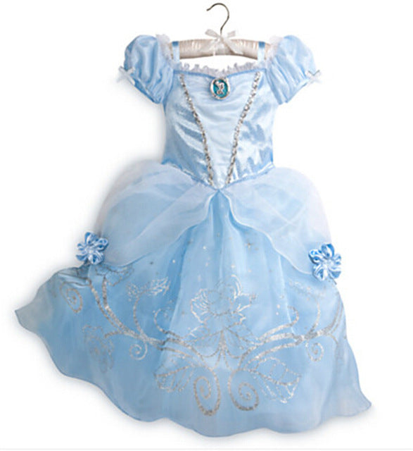 LZH Rapunzel Sofia Cinderella Dress Swon White Dress Easter Costume For Kids Princess Party Dresses For Girls Children Clothing