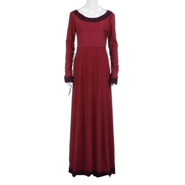 Classic Vintage Women Vintage Medieval Dress Cosplay Costume Princess Renaissance Gothic Dress Moda Feminina