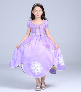 Princess Girls Dress Summer Carnaval Cinderella Dresses Kids Clothes Rapunzel Easter Party Girls Costumes Dress Vestidos 3-10 Y